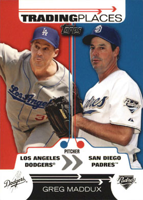 2007 Topps Trading Places Tp24 Greg Maddux Buy Baseball Cards