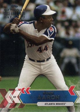 2017 Topps National Baseball Card Day Braves Atl 9 Hank Aaron