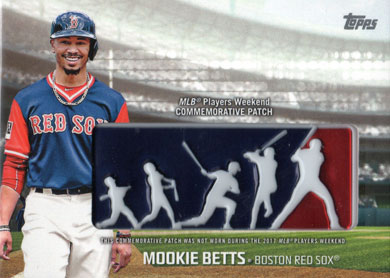 2018 Topps Players Weekend Patches Pwp Mb Mookie Betts